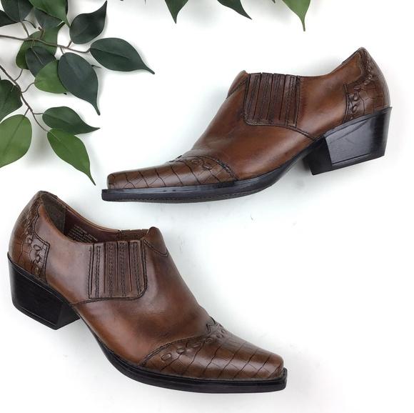 71e351ce Earth Spirit Shoes - Earth Spirit Western Leather Cheyenne Shooties